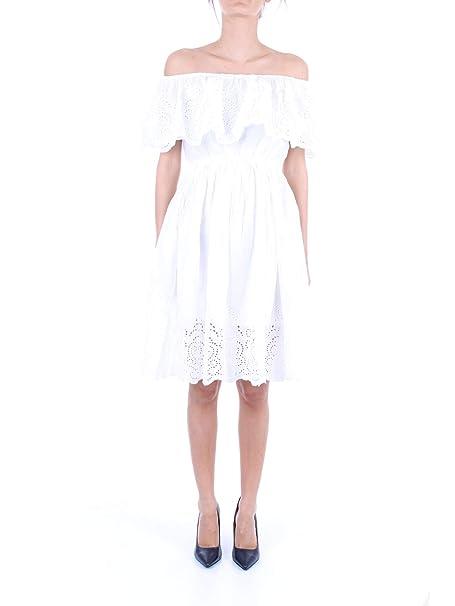 MOLLY BRACKEN Mujer EL165P19BIANCO Blanco Algodon Vestido: Amazon.es: Ropa y accesorios