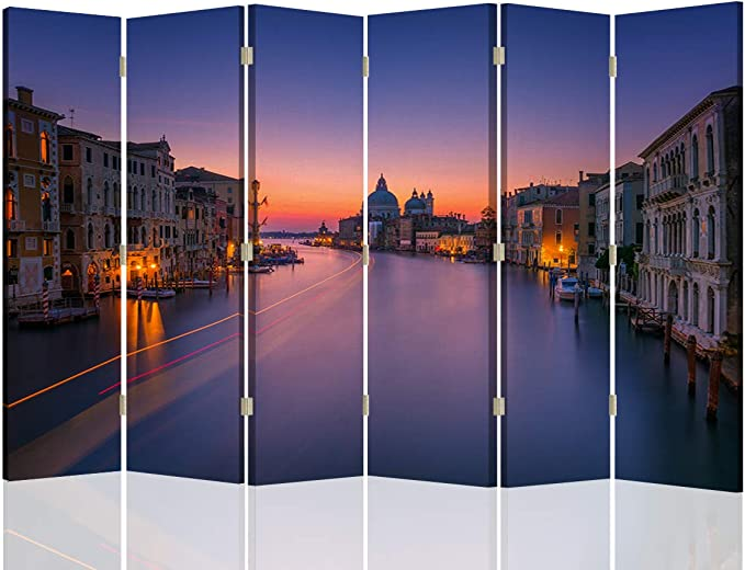 Feeby Foto Biombo Venecia Canal Grande 6 Paneles Unilateral ...