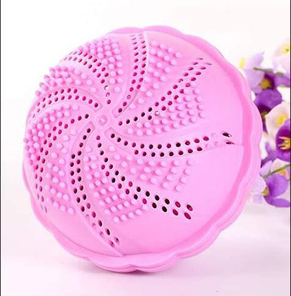 ランドリーボール デコンタミネイション 洗濯ボール 防風 ホーム スペシャル L 洗濯機洗浄ボール マジック 竹炭 クリーニングボール ピンク B07GCHM6TK