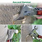 Emergency Escape Axe Hammer, Anumit 16-in-1 Multi-function Alloy Steel Hammer-axe with Plier, Knife, Can Opener, Screwdriver & More