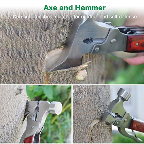 Review Emergency Escape Axe Hammer, Anumit 16-in-1 Multi-function Alloy Steel Hammer-axe with Plier, Knife, Can Opener, Screwdriver & More