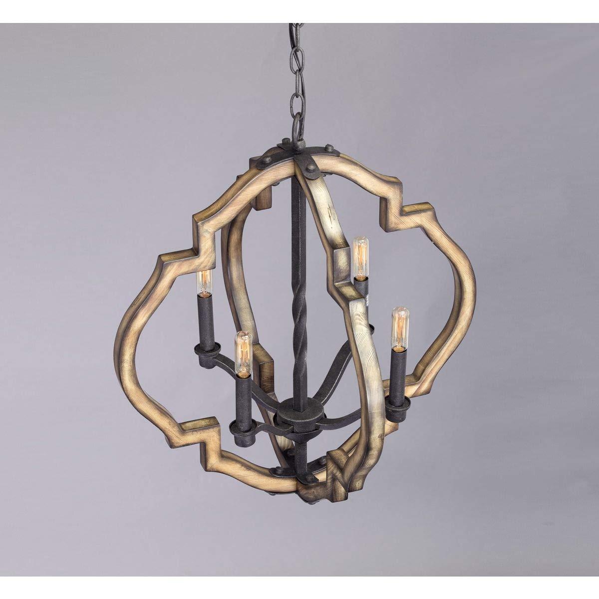 Progress Lighting P4766-71 Spicewood Four-Light Chandelier Gilded Iron