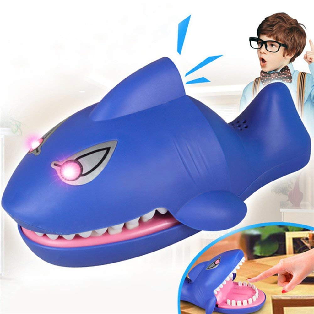 Liberty Imports Shark Dentist Game for Kids (Evil Laughter, Glowing Eyes, More Fun Than Crocodile)