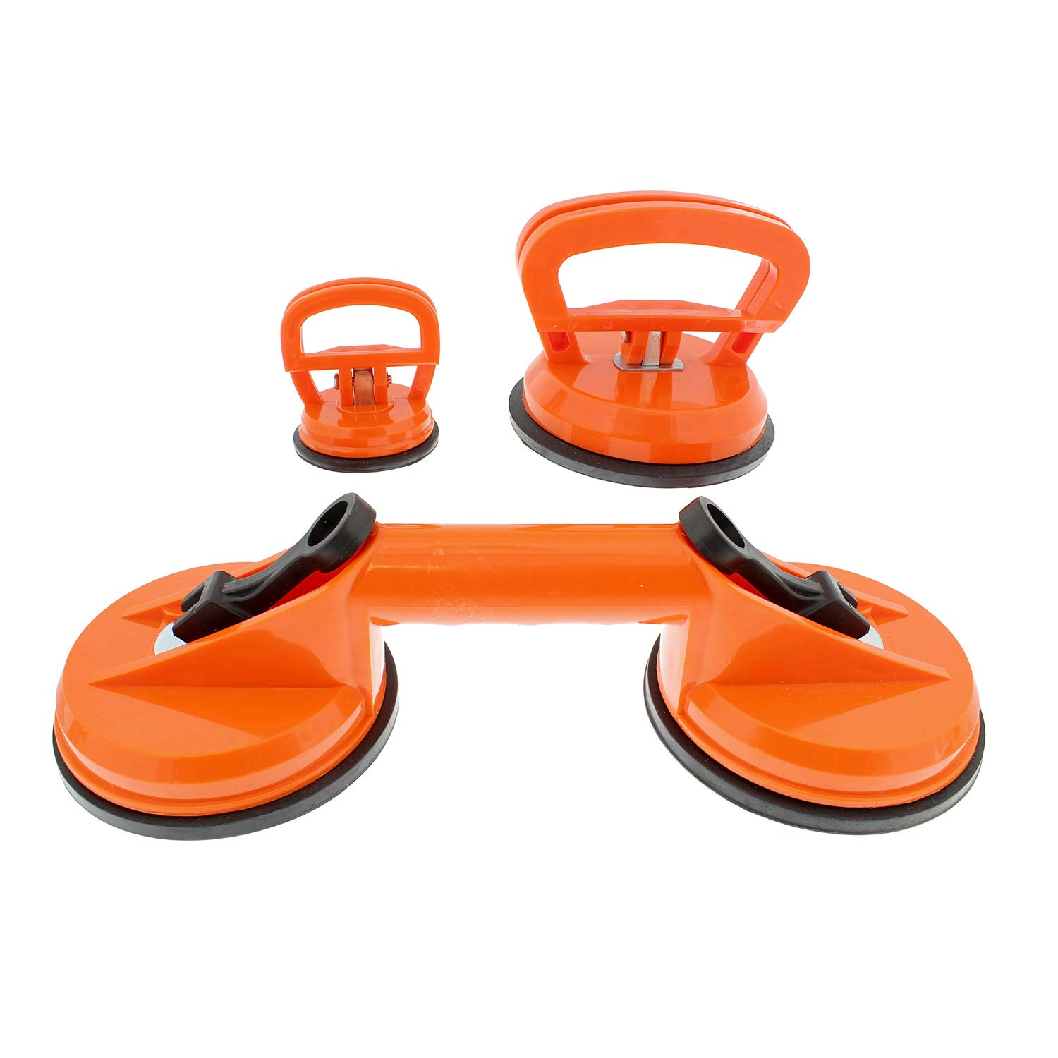 ABN Dent Remover Suction Cup Tool Kit - Set of 3 Suction Cup Auto Dent Puller Kit Bodywork Tools
