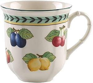 Villeroy & Boch French Garden Fleurence Jumbo Mug, 15 oz, White/Colored