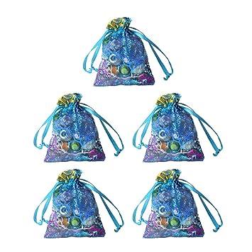 10 bolsas de organza de color azul coral satinado, con ...