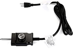 WADEO Adjustable Thermostat Probe Control Cord for Masterbuilt Smokers Cord Replacement.(15A Max, 110V, 1500W)
