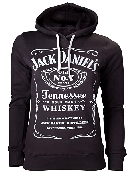 Oficial Womens JD Whiskey Old No. 7 Negro Sudadera Capucha blanco extra-large : Amazon.es: Ropa y accesorios