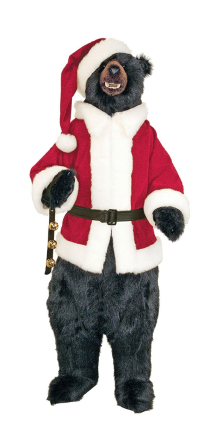 amazoncom the hen house 58 life size plush standing santa claus black bear christmas display home kitchen