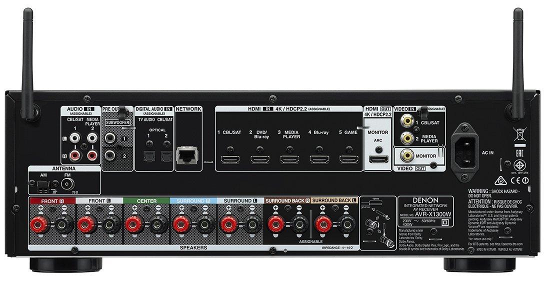 Amplificador Denon AVR-X1300W por solo 455€
