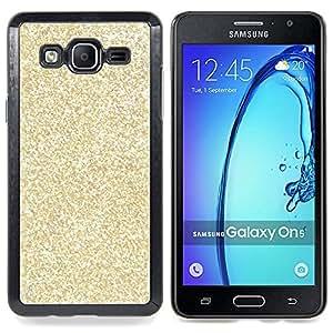 /Skull Market/ - Gold Glitter Bling Money Rich Sparkly For Samsung Galaxy On5 SM-G550FY G550 - Mano cubierta de la caja pintada de encargo de lujo -