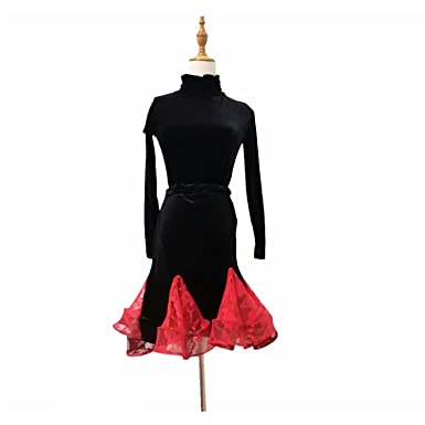 d7fd940c7 Naomiky Skirts Nice Pattern Latin Half Skirt Woman Dance Clothing Adult  Lading Dance Skirt Practice Package