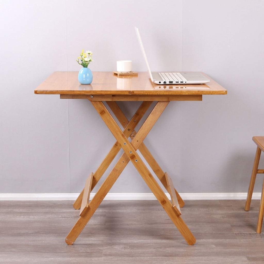 4人用木製折りたたみテーブルスクエアホームポータブルダイニングテーブル高さ調節可能ピクニックテーブル (サイズ さいず : 80×80×71cm) B07S18L4HG  80×80×71cm