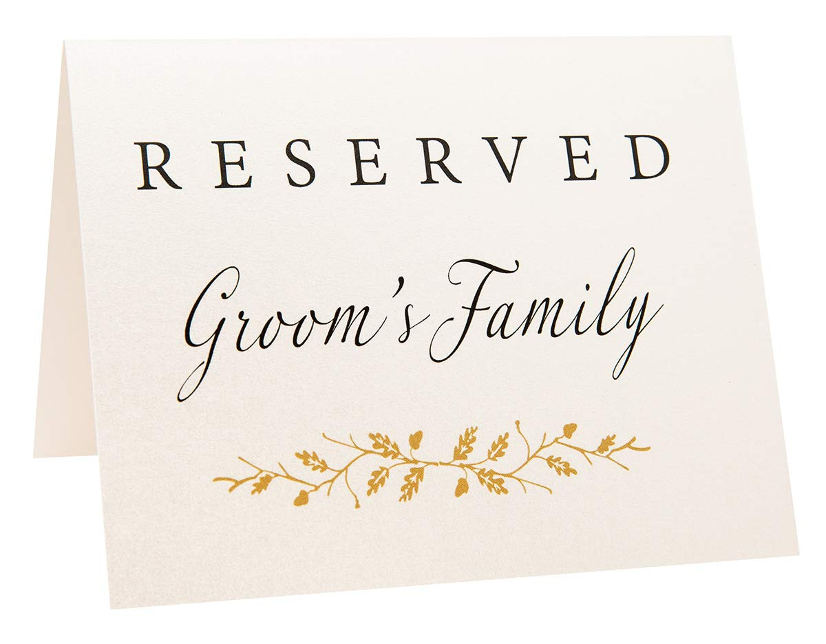 2018 shoes new york 100% genuine 2 City Geese Reserved Wedding Table Signs | Set of 6 Pearl White and Gold  Reserved Signs Including Reserved for Bride's Family Groom's Family and ...