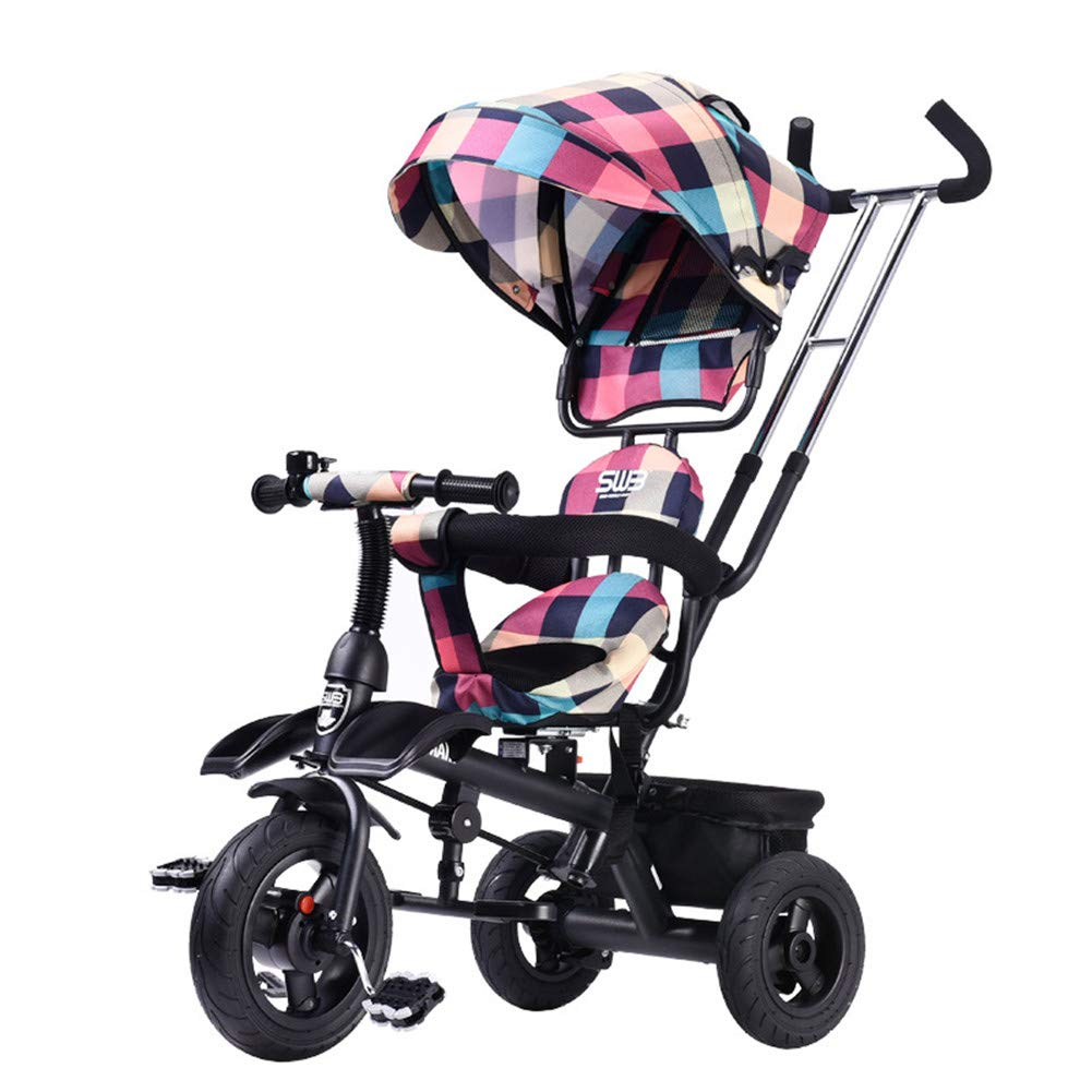 子供の三輪車三輪車の子供はペダルロックおよび3つの車輪と、6か月から6年に合わせてトライクします  c B07SKJS3WS