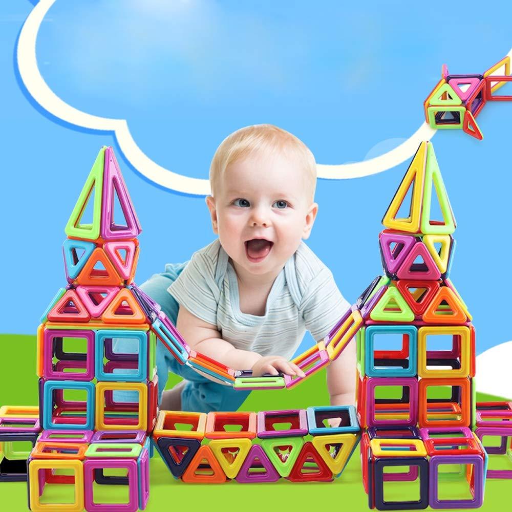 promociones emocionantes 139pieces HKANG Bloques, de de de Construcción Azulejos Magnéticos de Construcción, Formas Magnéticas, Plástico ABS de Seguridad Folleto de Juguetes de Construcción Juguetes Educativos para niñosPequeños,1  Para tu estilo de juego a los precios más baratos.