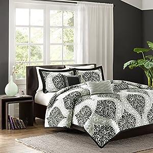 Intelligent Design Senna Comforter Set, Full/ Queen, Black
