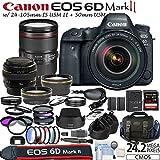 Canon EOS 6D Mark 2 Digital SLR Kit + 24-105mm L IS USM II Lens + 50mm f/1.4 USM Lens + Enhancement Kit
