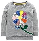 RJXDLT Little Girls Sweatshirts Cartoon Long Sleeve Cotton Pullover Tops 3T E