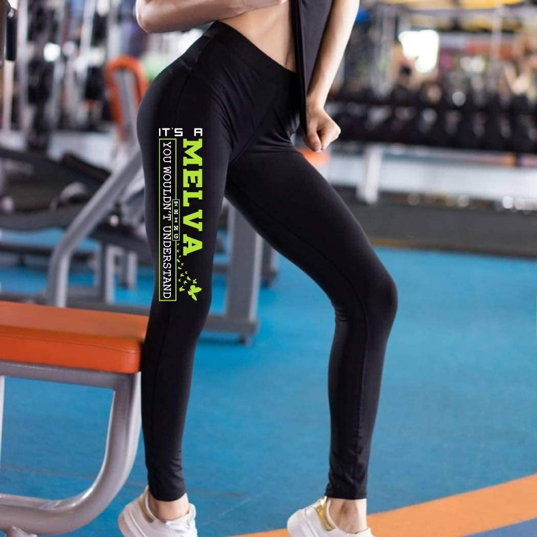 HusbandAndWife St Patricks Day Leggings for Women Its a Melva Thing You Woudnt Understand