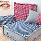 KSUNGB Thickening Plus Big Bay window Cushion Floor Sit Cushion Square Shape sit cushion, blue, 505015cm