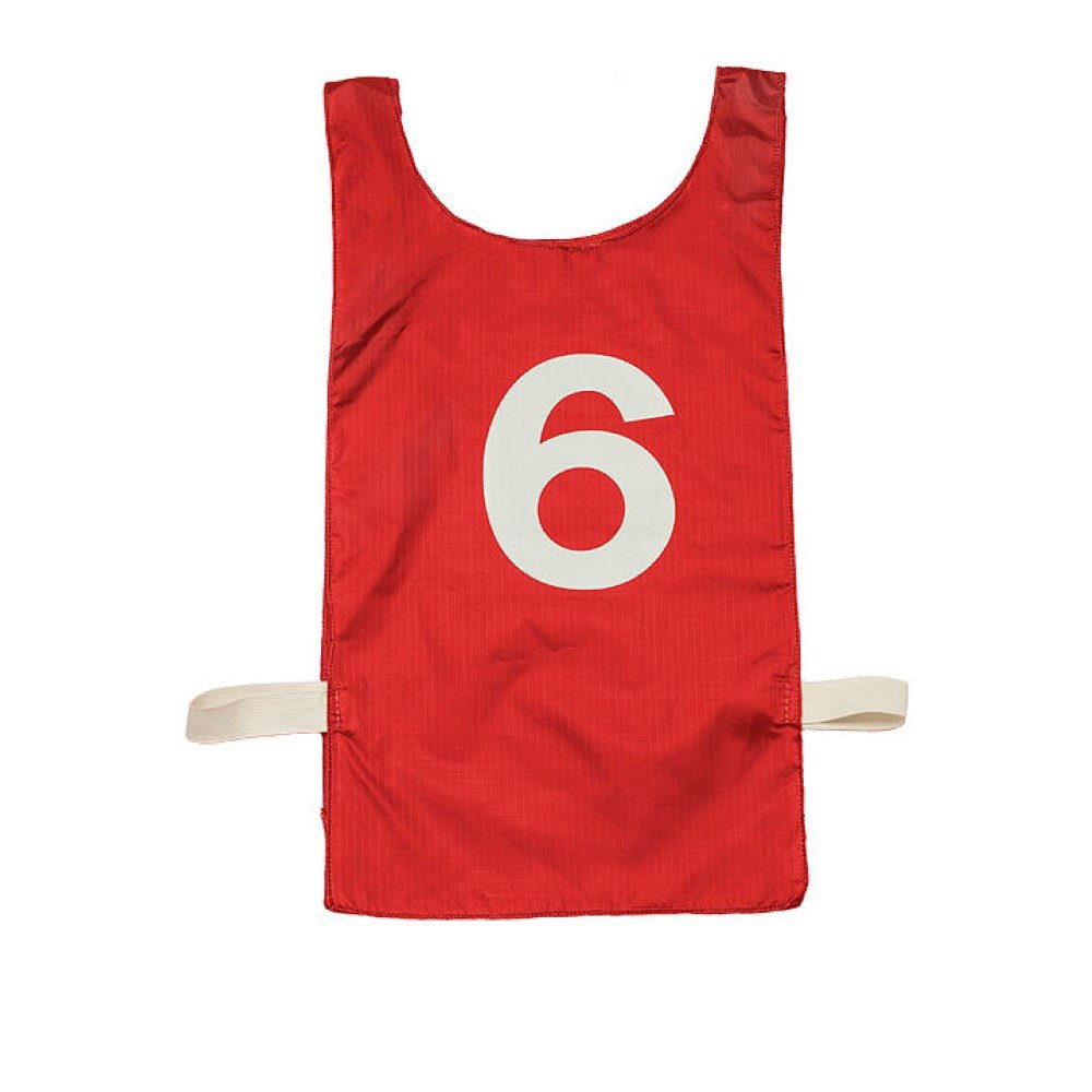 ChampionスポーツNumbered Heavyweight Pinnie B002MWY31G Scarlet (NP2RD) Scarlet (NP2RD)