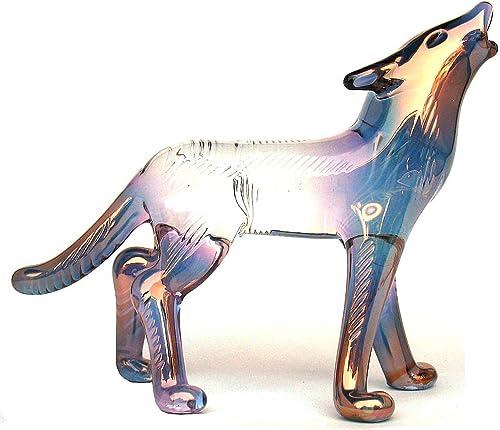 Prochaska Gallery Hand Blown Glass Wolf Figurine