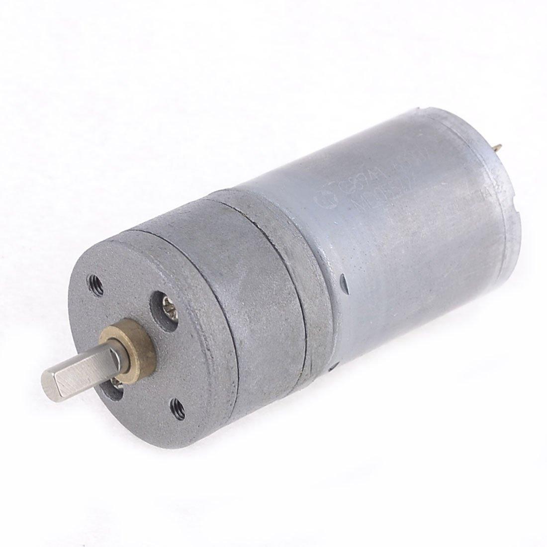 uxcell Gear Motor with Encoder DC 12V 55RPM Gear Ratio 78:1 D Shaft Metal Encoder Gear Motor Silver 25Dx53L mm for Robot RC Car Model DIY Engine Toy