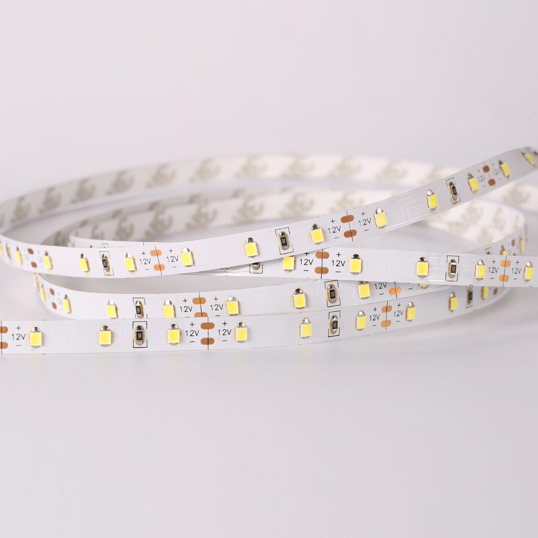 LEDMO Waterproof SMD2835 15lm CRI80 600 LED Strip Light, White (6000K) by LEDMO (Image #2)