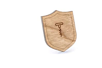 Abridor de sacacorchos de solapa Pin, Pin de madera y corbata Tack ...