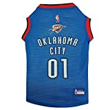 "NBA Dog Jersey Size: Small (11"" H x 9"" W x 0.5"" D), NBA Team: Oklahoma City Thunder"