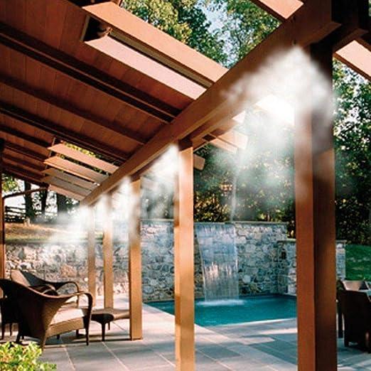 MadPrice - Kit de nebulizador de Agua, nebulización, Carpa, sombrilla, jardín, refrigeración, 10 m: Amazon.es: Jardín