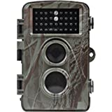 Distianert 12MP 720P Infrared Game&Trail Camera 0.6 Trigger Time Low Glow Night Vision 65ft Waterproof IP66 with 34pcs 850nm IR LEDs