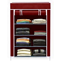 Aysis Collapsible Wardrobe Organizer, Storage Rack for Kids and Women, Clothes Cabinet, Bedroom Organiser (Need to Be Assembled)