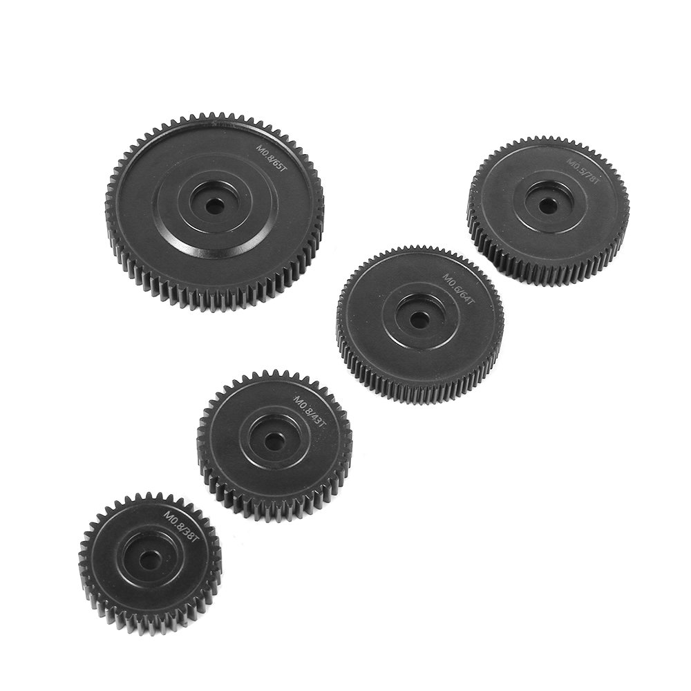 FOTGA Set of Five 0.5 78T/0.6 64T/0.8 38T 43T 65T Pitch Gear for DP500 III Follow Focus by FOTGA