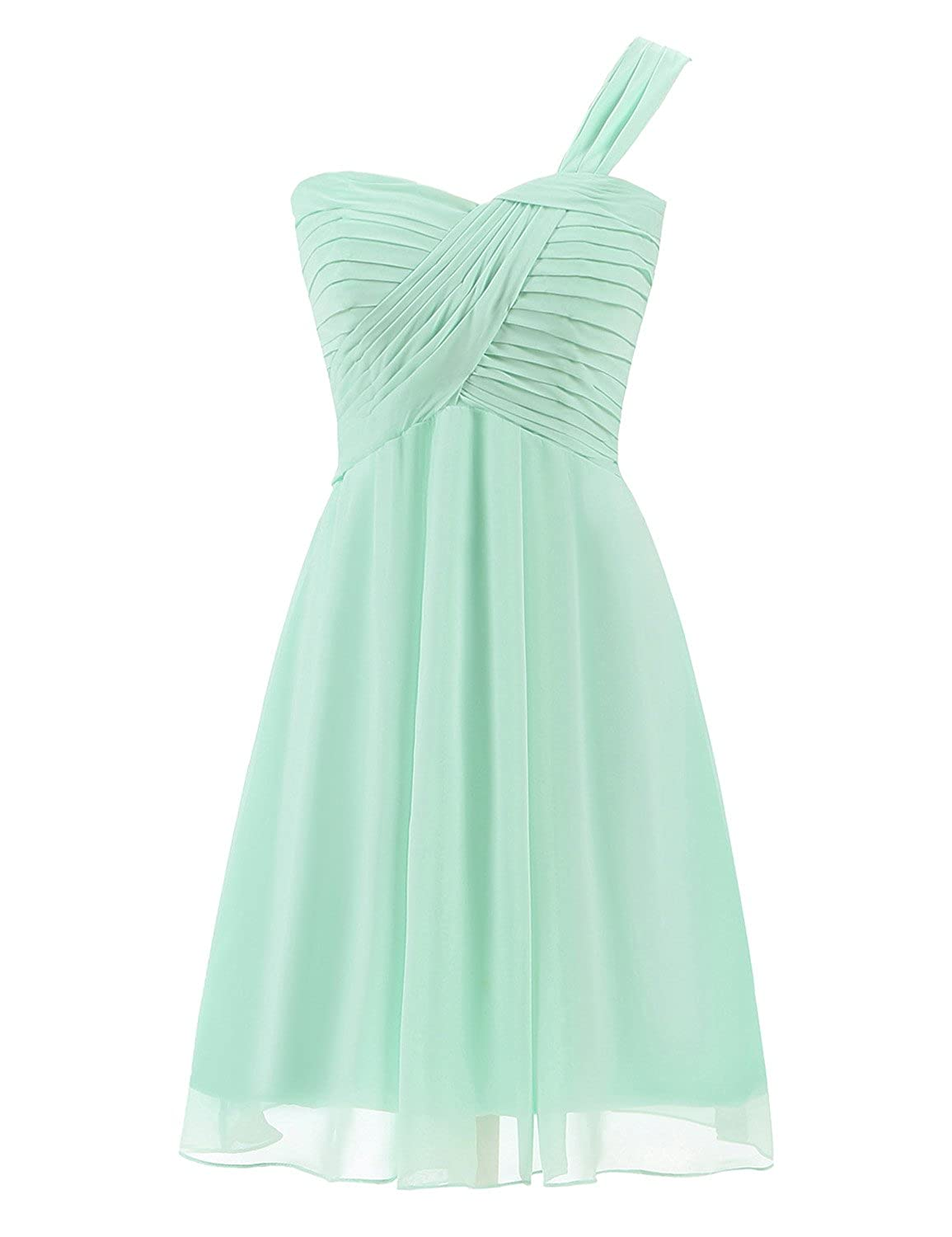 anmor Womens Bridesmaid Dresses Short Strapless Chiffon Sweetheart Prom Gowns ARSD247