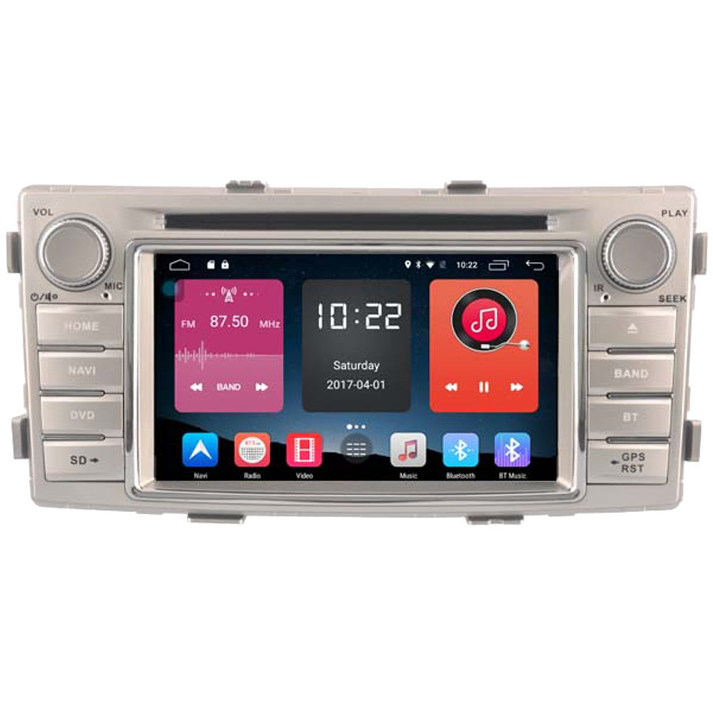 Autosion In Dash Android 6.0 Car DVD Player Sat Nav Radio Head Unit GPS Navigation Stereo for Toyota Hilux 2012 2013 2014 2015 TPMS LTE 4G Support Bluetooth SD USB Radio WIFI DVR 1080P