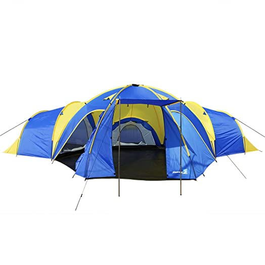 Peaktop 3 1 Rooms 8 Persons Large Family Group Camping Tent