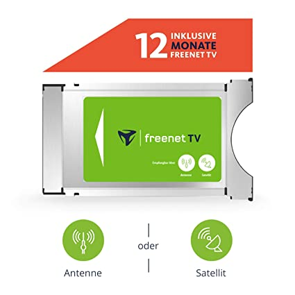 Karte In Ci Modul Einstecken.Freenet Tv Ci Modul Inkl 12 Monate Freenet Für Antenne Dvb T2 Hd Satellit Dvb S