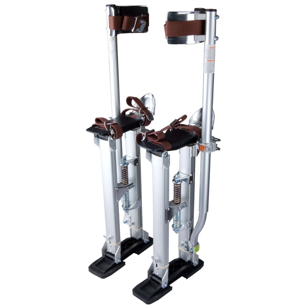 Eight24hours 24-40 Inch Aluminum Stilt Drywall Painting Stilts For Painter Taping Tool Silver