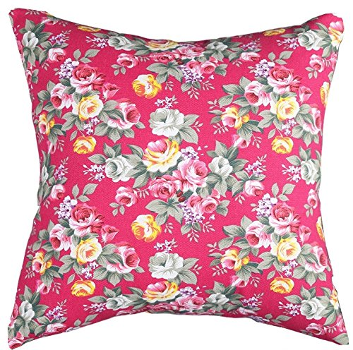 Multi-sized Both Sides Floral Printing Cushion Cover LivebyCare Linen Cotton Throw Pillow Case Sham Pattern Zipper Pillowslip Pillowcase For Club Pub Coffee House Bar Sofa Chair Couch - Floral Vintage Pillow Sham