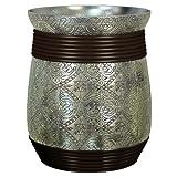 6 quart waste basket - nu steel Wastebasket, Silver Resin/Oil Rubbed Bronze