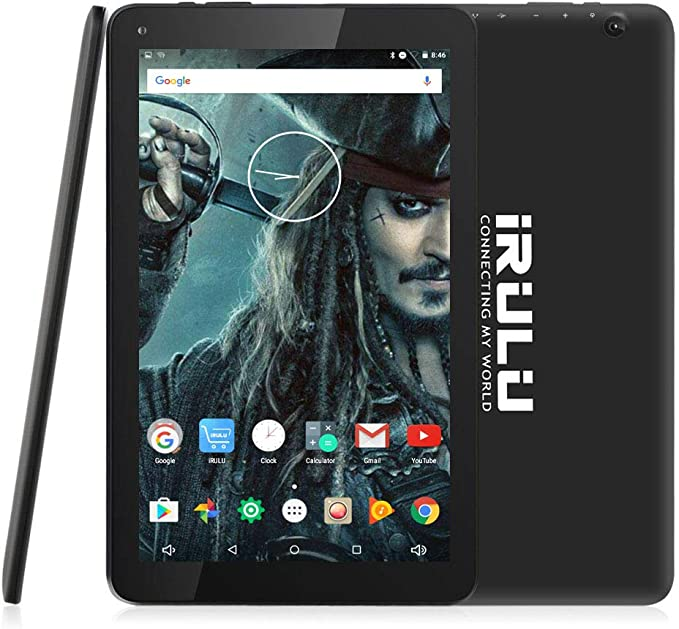 10.1 inch Tablet, iRULU Quad Core CPU Android 7.0 Tablet, Bluetooth, GPS, 16GB Storage