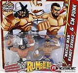 MACHO MAN RANDY SAVAGE & CM PUNK - WWE RUMBLERS TOY WRESTLING ACTION FIGURES