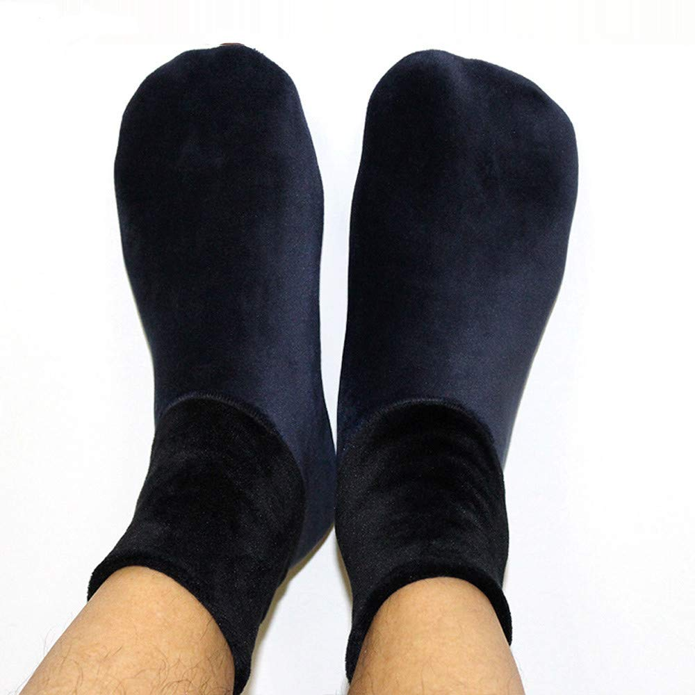 Beautyfine Men Home Bed Sock 2018 Winter Warm Thicke Non Slip Elastic Floor Socks Slipper