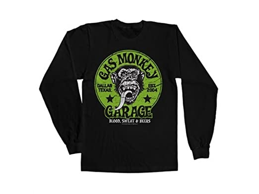 Garage T Shirts : Gas monkey garage officially licensed merchandise green logo long