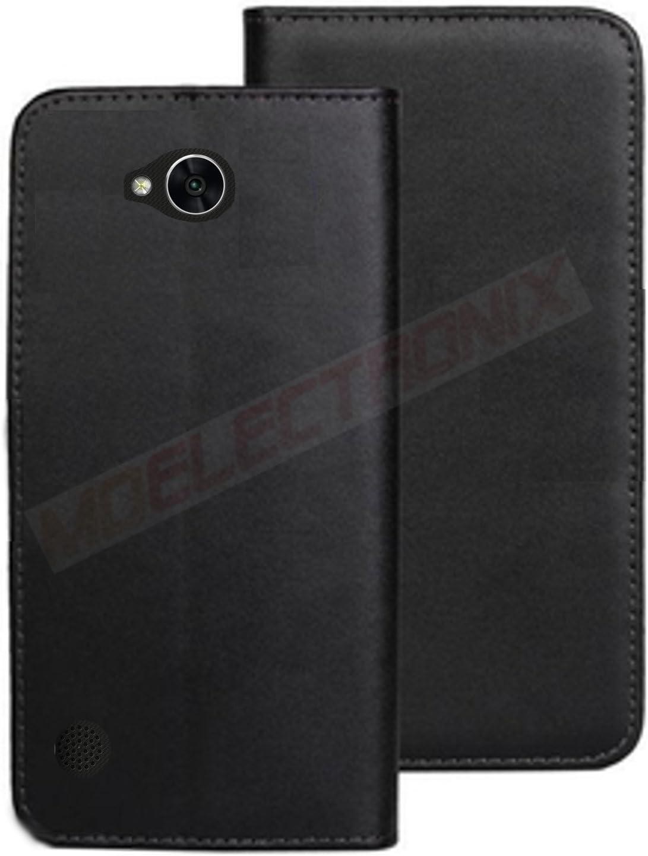 MOELECTRONIX ECHT Leder Buch Klapp Tasche Schutz H/ülle Flip Case Etui passend f/ür LG XPower 2