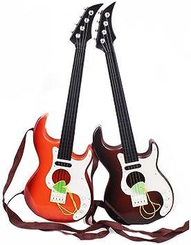 Guitarra acústica clásica de 4 cuerdas con correas de la guitarra ...