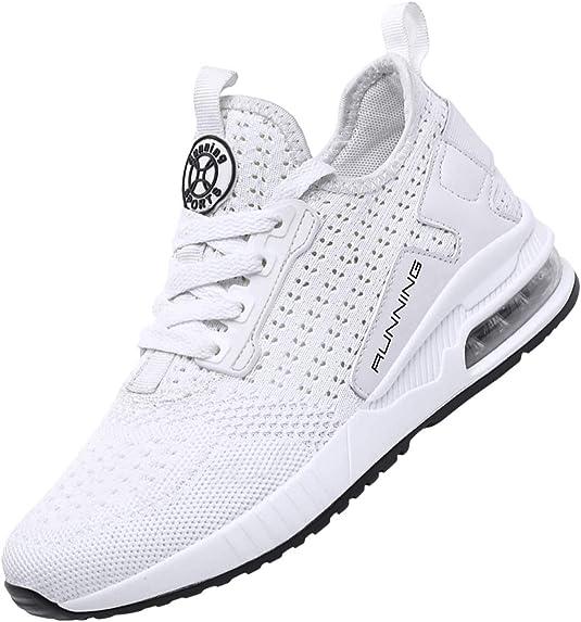 SINOES Hombre de Zapatos Deportivos Correr Caminar Gimnasio Ocasional Deportivos Flyknit Tennis Sports Zapatillas: Amazon.es: Zapatos y complementos