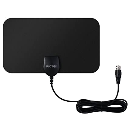 Pictek HDTV Antenna, 25Miles Indoor Digital TV Antenna with CCF Tech for Strong Signal Reception